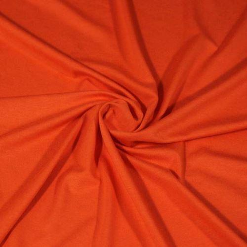 Úplet oranžový tmavšie, 220g / m, š.160