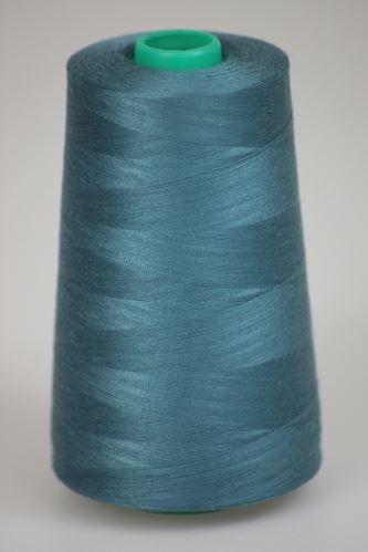 Niť KORALLI polyesterová 120, 5000, odtieň 5860, modrá
