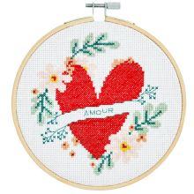 Sada pro křížkové vyšívání DMC - srdce