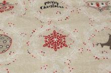 Dekorační vánoční látka SURPRICE, š.140
