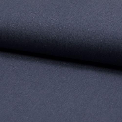 Ľanová kostýmovka, denimová modrá, š.135