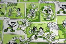 Úplet zelený,kačeři a myšáci, š.150