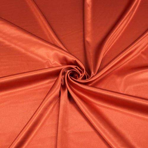 Satén tmavo oranžový BW382, š.145