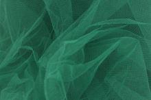 Tyl závojový tmavo zelený š.180