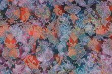 Kostýmovka žakár N3156, farebný kvet, š.140