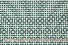 Úplet bílý, zelené květy, š.150