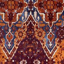 Samet 06662 bordó, barevný vzor š.140