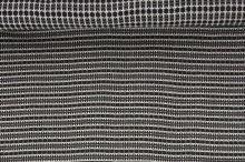 Kabátovina černobílý vzor š.150