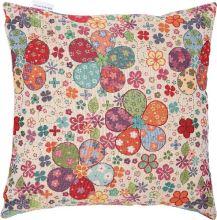 Dekoračný vankúš farebné kvety, 45x45 cm