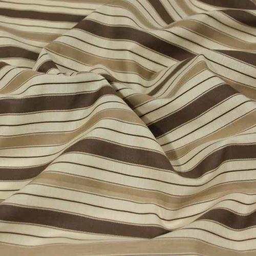 Košilovina 06462 béžová, hnědý pruh, š.140