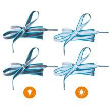 Reflexné šnúrky svetlo modré, dĺžka 120 cm