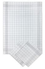 Utěrky bavlněné, pozitiv bílo-šedá, 50x70cm, 3ks