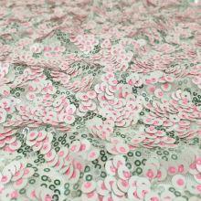 Flitry krémovo-růžové, š.125/150