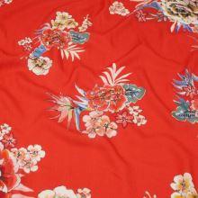 Šatovka červená, barevné květy, š.140