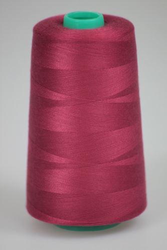 Nit KORALLI polyesterová 120, 5000Y, odstín 3570, růžová-fialová