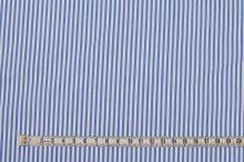 Košilovina modro-bílý pruh, š.145