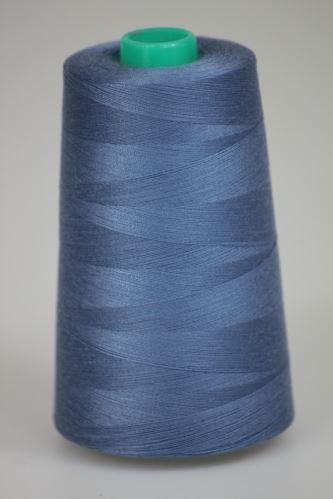 Niť KORALLI polyesterová 120, 5000, odtieň 5430, modrá