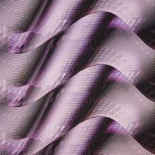 Satén fialovo-ružové vlny, š.145