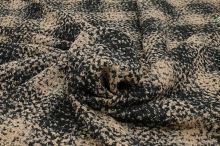 Kabátovina podzimní, béžovo-černé káro, š.145