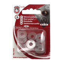 Podložka plastová pod AM, WUK priemer 15mm (v.6), priehľadná, 20ks