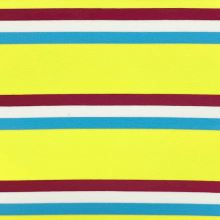 Úplet 21936 žlto-červeno-modré pruhy, š.150