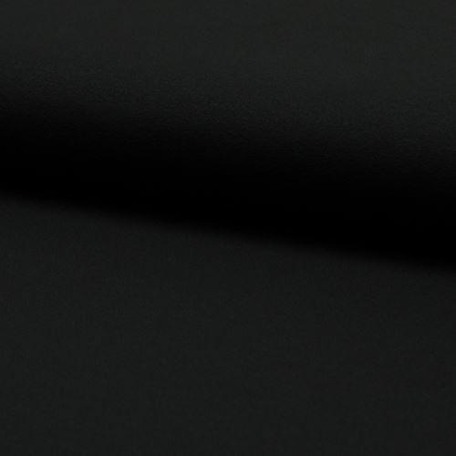 Úplet žoržet DE LUXE čierny, 260g/m, š.145