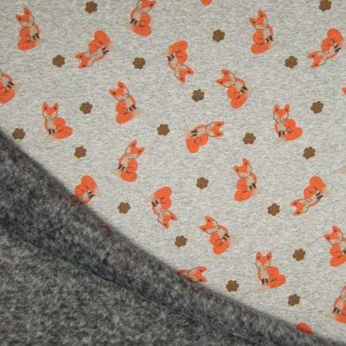 Warmkeeper šedý, lišky, š.145