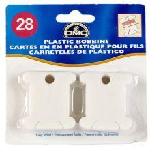 Plastové namotávky DMC na příze, 28 ks