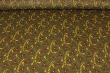 Šatovka khaki, žltohnedý vzor, š.145