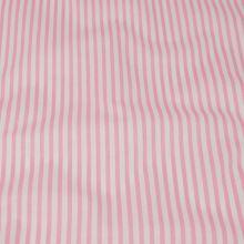 Bavlna ružovo biele pruhy, š.140