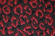 Kostýmovka černá, červený vzor š.120
