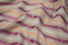 Košilovina béžová, barevný pruh š.155