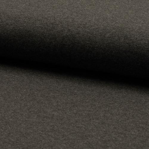 Úplet SINIT tmavě šedý melé, 220g/m, š.160