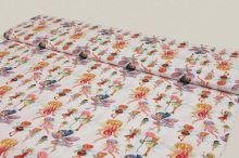 Bavlna bílá, barevné víly, š.160