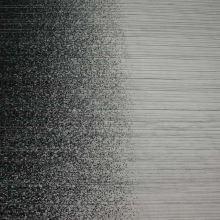 Tylové plisé čierne, čierna bordúra, š.140