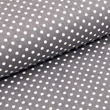 Keper šedý, biele bodky, š.140