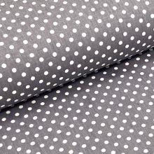 Kepr šedý, bílé puntíky, š.140