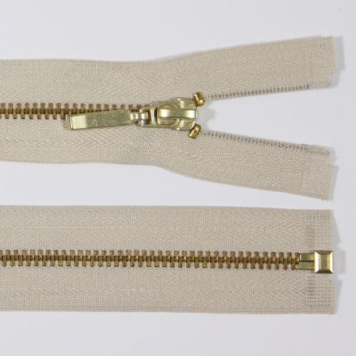 Zips kovový 4mm mosadz dĺžka 60cm, farba 307 (deliteľný)