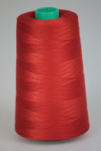 Niť KORALLI polyesterová 120, 5000, odtieň 2440, červená-oranžová