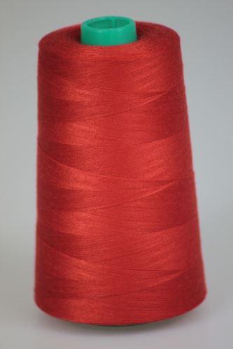 Niť KORALLI polyesterová 120, 5000Y, odtieň 2440, červená-oranžová