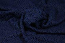 Úplet vzorovaný, modro-černý, š.130