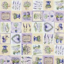 Dekorační látka P0556, Provance patchwork, š.140