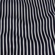 Bavlna pruhovaná, bílý a tmavě modrý proužek, š.145