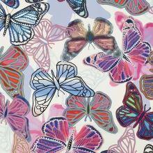 Šatovka bílá, barevní motýlci, š.140
