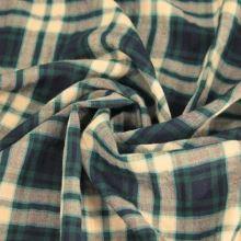 Košilovina káro zeleno-žluté š.145