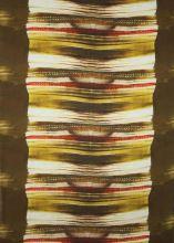 Satén hnedočervený vzor, š.145