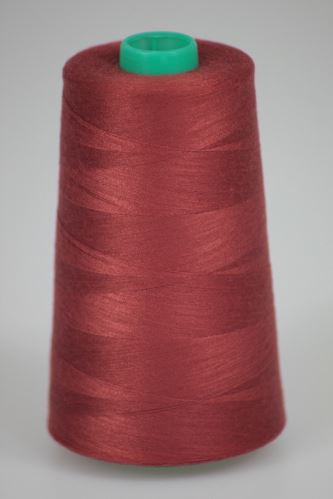 Niť KORALLI polyesterová 120, 5000Y, odtieň 2860, hnedá