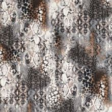 Úplet bielošedý, zvierací vzor, š.150