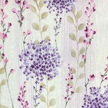 Dekoračná látka P0552, lila kvety, š.140