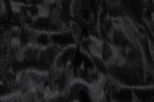 Plyš čierny vzorovaný, š.150